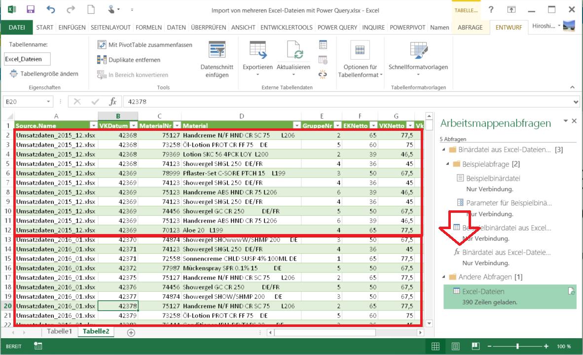 Excel-Dateien aus Ordner